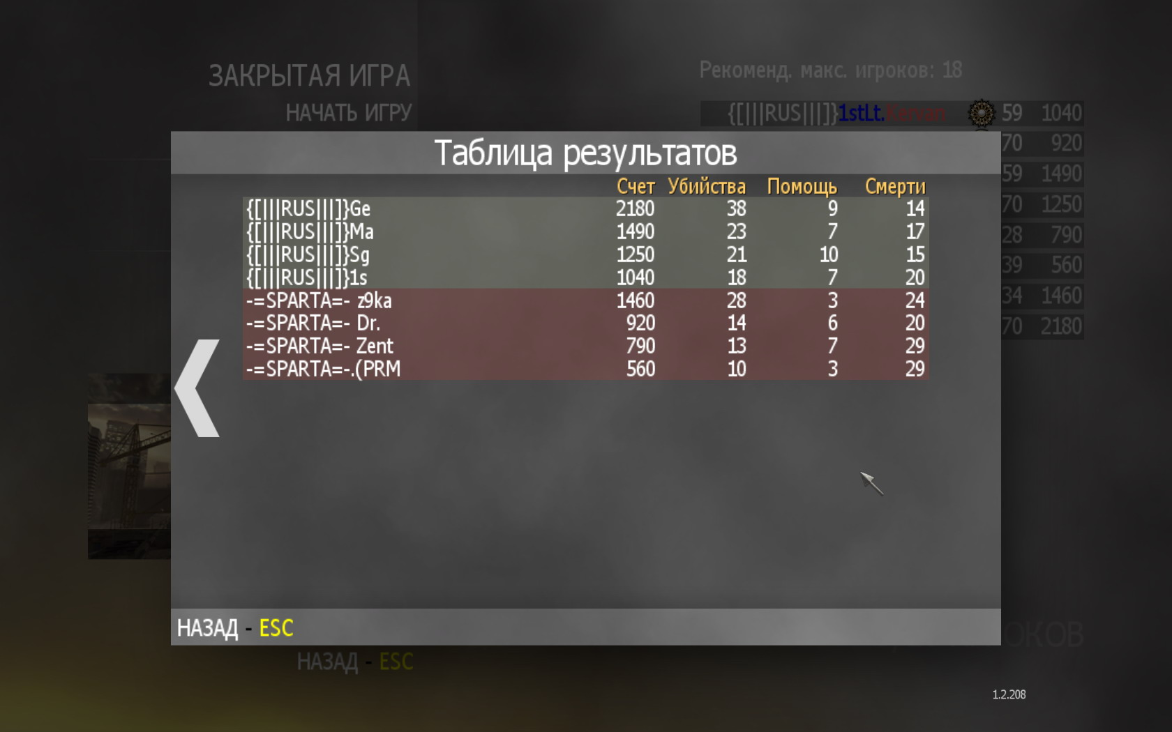 RUS Team | Matches in Call of Duty Modern Warfare 2